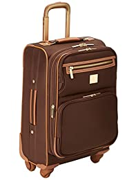 Diane Von Furstenberg Private Jet II 20-Inch Expandable Spinner, Brown, One Size