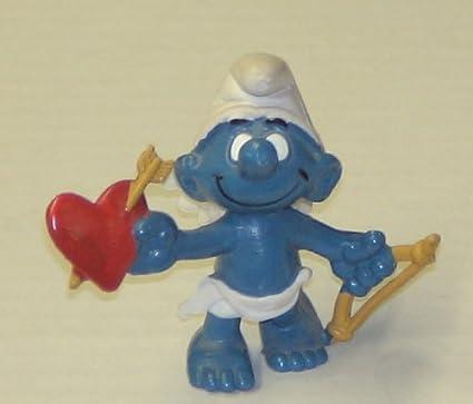 Amazon Com Vintage Smurfs Pvc Figure Valentines Day Cupid Smurf