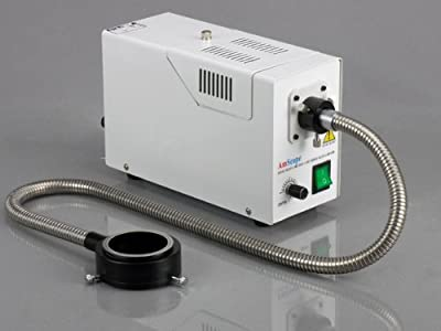AmScope FB-OR Fiber Optic Ring Light Attachment For Microscope Illuminator