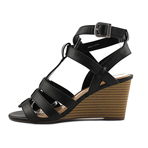 Womens Style Platform Open amp; Toe Co Haydar Black Sandals Casual 44pOZqSx
