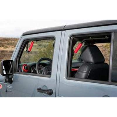 Made in the USA GraBars Steel Handles 2007-2017 Jeep Wrangler 4DR JKU Front & Rear - RED