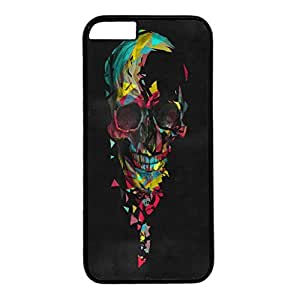 Iphone 6 case ,fashion durable black side design phone case, pc material phone cover ,with colorful black geometric skull.