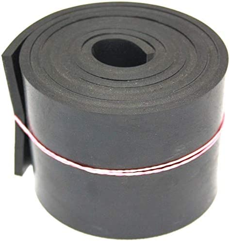 Gummiauflage Gummimatte Gummistreifen in der Gr/ö/ße 5000x120x5mm Hartgummi Gummiplatte Sch/ürfleiste Vollgummi