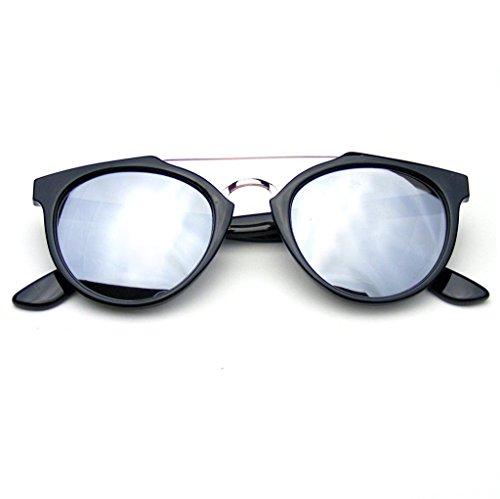 Lente Vintage Emblem De Barra Plata Eyewear Espejo Transversal En La Sol Dapper Inspirado Gafas Flash aw5wrqnz