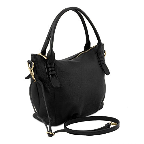 ballet Bag En Suave Bolso A Negro Pink Tl141705 Tuscany Mano Tl Leather Piel qZwnSOf