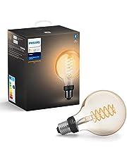 Philips Hue Filament Lamp 1-Pack - E27 - Vintage Globevorm G93 - Duurzame LED Verlichting - Warmwit Licht - Dimbaar - Verbind met Bluetooth of Hue Bridge - Werkt met Alexa en Google Home