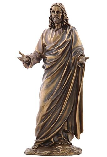 (12.13 Inch Jesus (Son of God) with Open Arms Cold Cast Bronze Figurine)