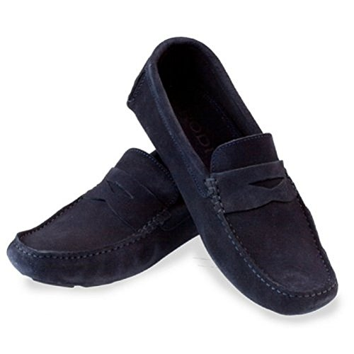 Rodi Misano Mens Italian Driving Shoes - Navy Suede WxZ23ytua