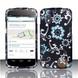 Rubberized Design Cover compatible with LG Nexus 4 E960, Bursting Stars
