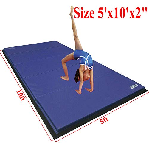 "Gymmatsdirect 5'x10'x2"" Super Large Gymnastics Exercise Tumb"