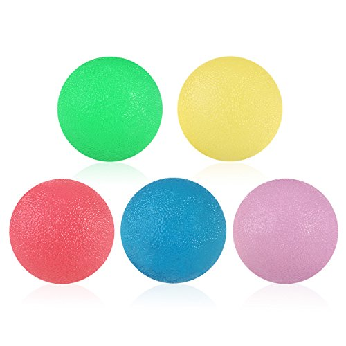 Squeeze Set - PBPBOX Hand Therapy Ball - Hand and Grip Strengthening Balls Kits- Therapy Exercise Stress Relief - Set of 5 Multiple Resistance Exercise Squeeze Eggs