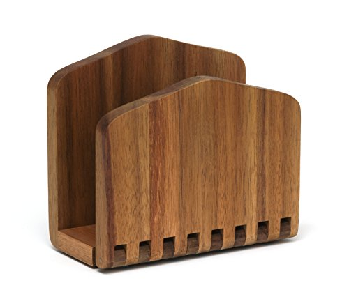 (Lipper International 1160 Acacia Wood Adjustable Napkin Holder, 6-1/2