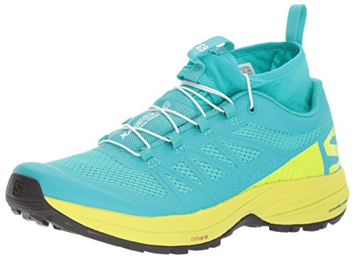 Salomon XA Enduro W, Chaussures de Trail Femme, Bleu, 49.3 EU Multicolore - vert lime/noir (Ceramic/Lime Punch./Black)
