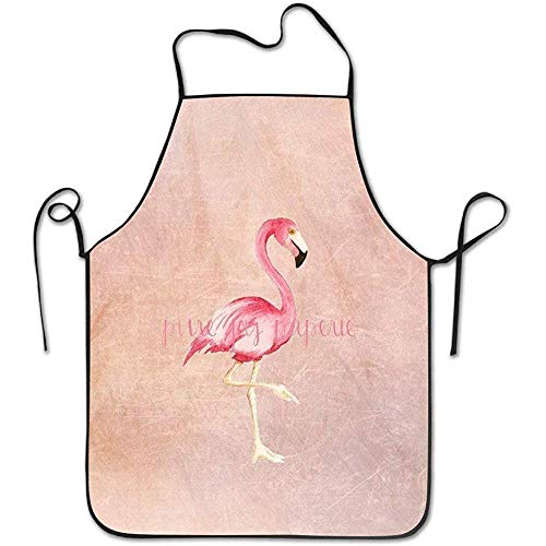 Johnnie Unisex Flaming Tiger Hen Apron for Women Painting Apron Dress Men Cooking Apron Pinafore