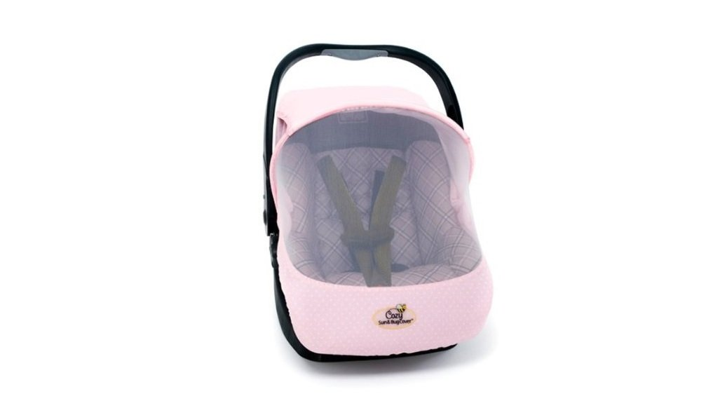 Cozy Car Seat Sun And Bug Cover Pink