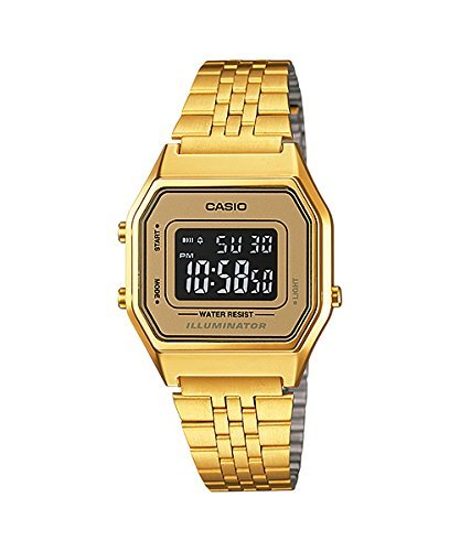 Casio LA-680WGA-9B-Clock with Quartz Movement, for Women, Gold Colour (Gold Casio Watch Band)