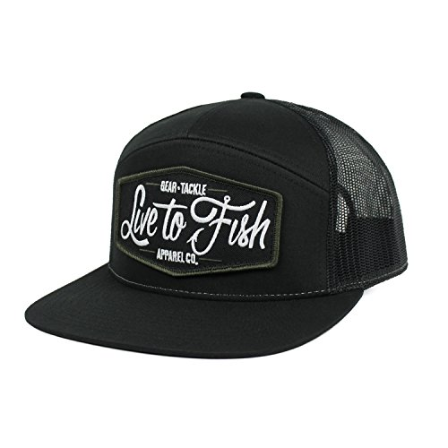 6dfda928780 Live to Fish GTA Co. Special Edition 7-Panel Mid-Profile Trucker Hat