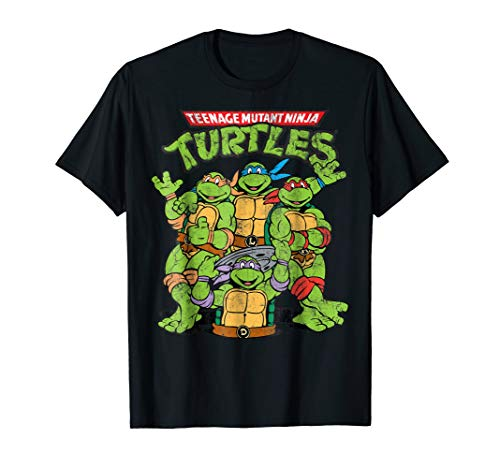 Teenage Mutant Ninja Turtles Classic Retro Logo Tee-Shirt (Teenage Mutant Ninja Turtles Pizza Party Shirt)