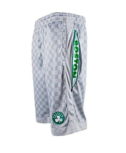 - Zipway NBA Tall Men's Boston Celtics Checkered Shorts, Gray (2XL-TALL)