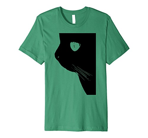 Made Self Costume Cat (Mens Slim-Fit Black Cat Animal Lover Halloween T Shirt Costume Medium Kelly)
