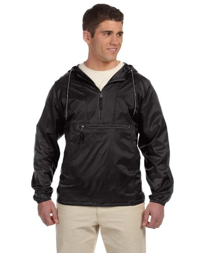 Harriton Packable Nylon Jacket M750 black X-Large