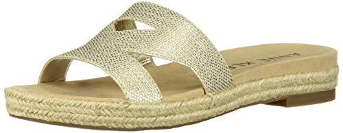 Anne Klein Women's Doris Slide Sandal, Light Gold 9 M US