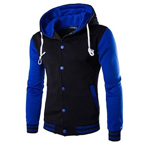 Allonly Men's Casual Long Sleeve Zip-up Hoodie Jacket Sprot Jacket Windbreaker