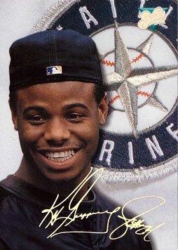 1993 Donruss Studio #96 Ken Griffey Jr. Baseball Card - Wearing Hat Backwards