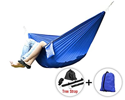 Yes4All Lightweight Camping Hammock with Strap & Carry Bag – Multi Color Available (Double)