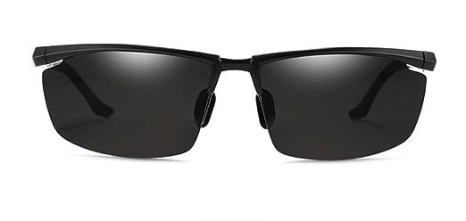 MOQJ Hombre Que Conduce Gafas de Sol polarizadas Protección Solar antideslumbrante Gafas de Sol con Visera, C: Amazon.es: Deportes y aire libre