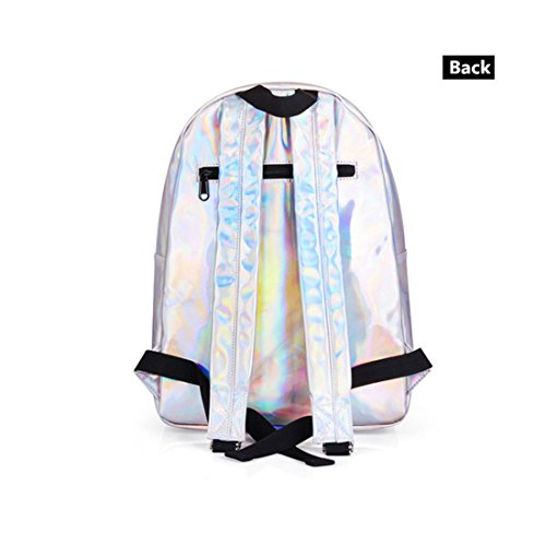 Holographic 004 Women Bag 003 New Sac Girl Multicolor Fashion Dos A for Laser School Backpack Leather Silver Backpack Backpack Hologram vd1qYHq