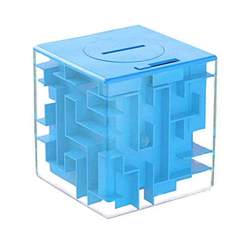 LightTheBo Money Maze Puzzle Box Gift Money Puzzle, Funny and Cool Brain Teasers for Kids - Safe for Boys, Girls, Teens (Blue)