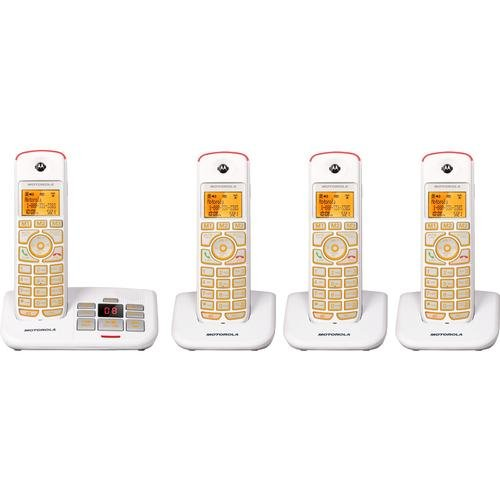 Motorola Model K704 Big Button Cordless Phone with Answering