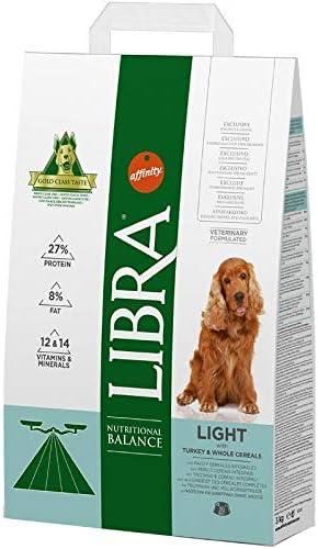 LIBRA - Pienso para Perros Adultos pequeños, medianos y Grandes Light Pavo y Cereales integrales