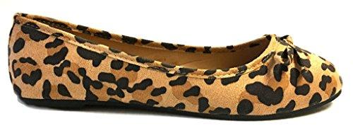 Shoes8teen Skor 18 Nya Kvinna Ballerina Balett Lägenheter Skor Leopard Och Fasta 14 Färger 8500 Leopard Mikro