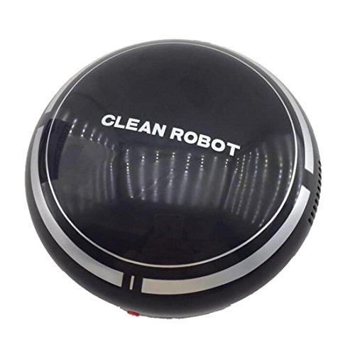 HANYI Automatic USB Rechargeable Smart Robot Vacuum Floor Cleaner Sweeping Suction (Black)