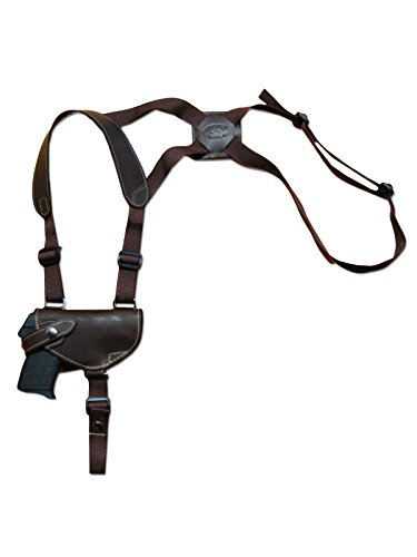 Barsony New Brown Leather Gun Shoulder Holster for Walther PP PPKS PPK Right