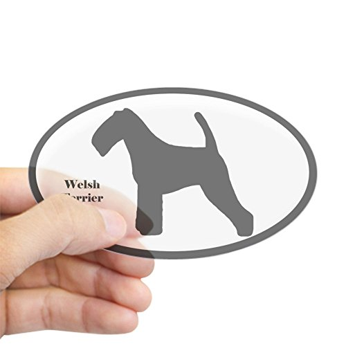 CafePress Welsh Terrier Silhouette Oval Sticker Oval Bumper Sticker, Euro Oval Car Decal
