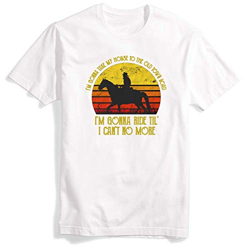 Old Town Road T Shirt for Men Tshirts O-Neck T-Shirt for Mens Shirts King Art 2019 (T-shirt Billy Ray Cyrus)