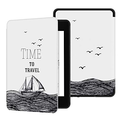 Ayotu Water-Safe Case for Kindle Paperwhite 2018 - PU Leather Smart Cover with Auto Wake/Sleep - Fits Amazon All-New Kindle Paperwhite Leather Cover (10th Generation-2018)K10 The Time to Travel