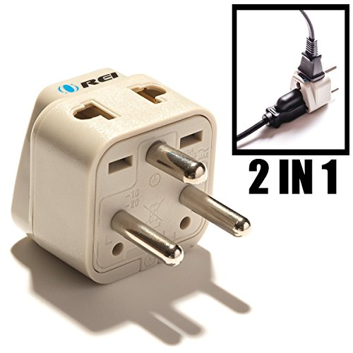 OREI Universal 2 in 1 Plug Adapter Type K for Denmark (Danish),, CE Certified - RoHS Compliant (WP-K-GN)