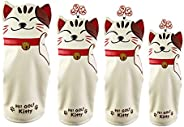 Amagogo PU Leather Head Cover Set Cat - Golf Club Cover Driver Head Covers for Wood