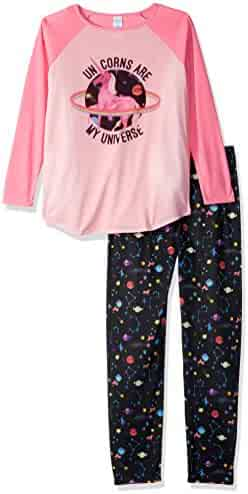 The Children's Place Girls' Long Sleeve Top and Pants Pajama Set