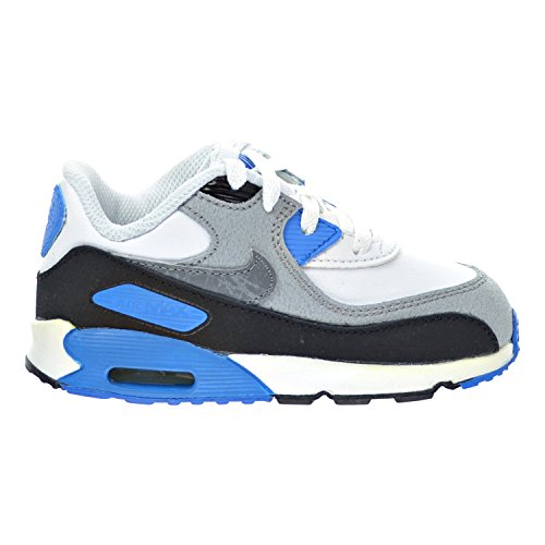 Nike Air Max 90 LTR (TD) Toddler Shoes White/Cool Grey/Blue/Black 724823-101 (4 M US)
