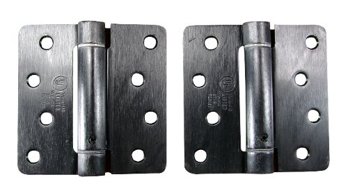 Hinge Outlet Spring Hinges, Adjustable Self Closing 4 Inch with 1/4 Inch Radius, Oil Rubbed Bronze, 2 Pack