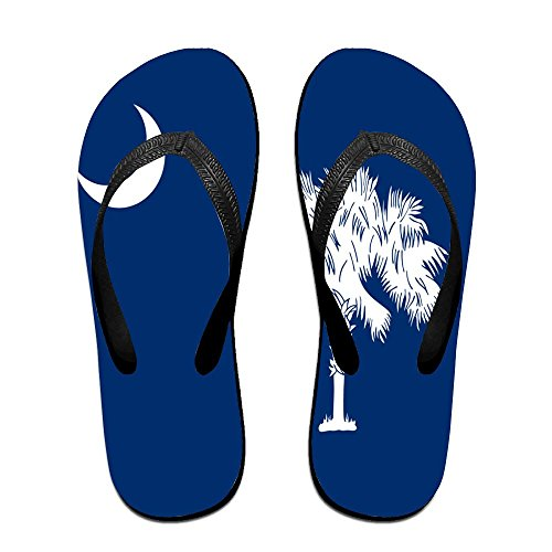 (South Carolina State Flag Comfortable Flip Flops For Children Adults Men And Women Beach Sandals Pool Party Slippers)