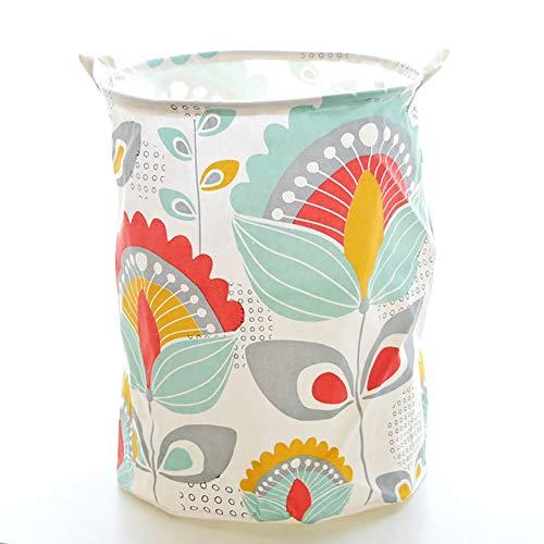 (JYPHM Laundry Basket Foldable with Handles Large Storage Bin Cotton Storage Basket Round Gift Basket with Handles for Toys Laundry Baby Nursery(Sunflower))