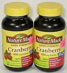 Nature Made Super Strength, Cranberry (450 Mg Extract) with Vitamin C, 60 Softgels 2 PACK