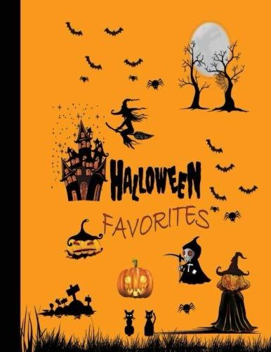 Halloween Favorites: Halloween Notebook Music Songwriting Blank Music Sheet Notebook 8.5 x 11 Inch]()