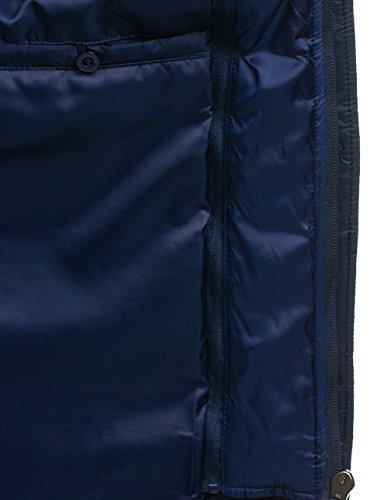 Cierre Azul Hombre Bolf Mix Cremallera Chaqueta Oscuro 3100 Acolchada De HH4tqw